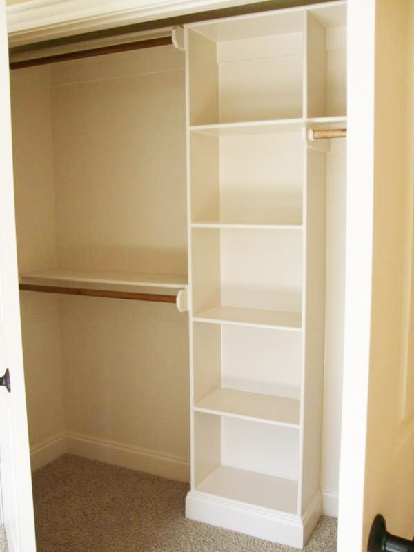 Double your closet space with an additional clothing rod